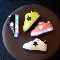 Children LED Shoes Kids New Flashing Shoes For Boys Girls Sp...