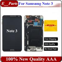 Original qualité AAA pour Samsung Galaxy Note 3 N9005 LCD écran tactile écran numériseur avec cadre cadre assemblage rapide Livraison gratuite