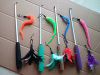 Funny Cat Stick Three short scaling Flying Feather Or Caterp...