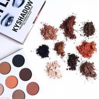 Кайли Дженнер Косметика Kyshadow теней Kit палитры Eyeshadow Бронзовый Preorder Косметические 9 цветов Бесплатная доставка