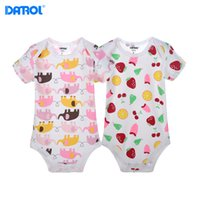 2 pieces  lot Baby cotton Bodysuits Newborn summer Clothes I...