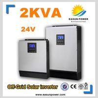 Инвертор инвертора 2Kva 1600W с промотированием солнечный инвертор 24V к инверторам 220V 25A MPP Чисто инвертор синуса инвертора 30A AC