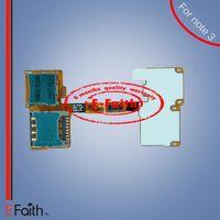 Lecteur de carte MicroSD Support pour carte SIM avec câble flexible Pour Samsung Galaxy Note 3 III N9000 Livraison gratuite