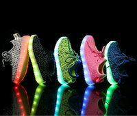 2016 kids LED Shoes light colorful Flashing Shoes with USB C...