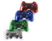Más nuevo inalámbrico Bluetooth controlador de juegos transparente Gamepad para PlayStation 3 PS3 joystick controlador de juegos ZY-PS-04