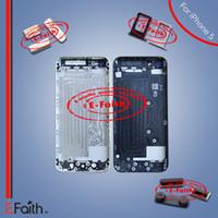 Pour l'iPhone 5G couleur Retour Assortiment de couvercle de batterie avec cadre moyen avec accessoires Livraison gratuite