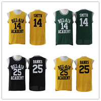New Jersey State Basketball Jersey Fresh Prince # 14 Will Smith Maillots Carlton Banks Jerseys # 25 Bel Air academia Jersey Livraison gratuite