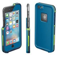 Высокое качество Iphone 6 4.7 версии водонепроницаемый футляр Доказательство воды Крышка с розничным пакетом 4 цвета DHL свободный