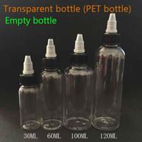 Bouteilles Unicorn Twist Off Caps Forme stylo PET 30ml 60ml 100ml 120ml Bouteille transparente pour E huile de jus liquide E-Cig Bouteilles plastique Dropper