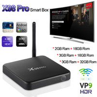 3GB 32GB X98 Pro Android 6.0 Caixa de TV Amlogic S912 Octa Core Mini PC Smart Media Player BT4.0 Dual Wifi 4K H.265 Gigabit VS A95X CSA93