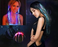 Luminous Light Up LED Hair Extension Flash Braid Party Girl ...