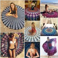 Toallas de playa de mandala redonda impresas tapicería hippy boho toalla de playa toalla bohemia servilletas cubiertas de playa chal abrigo yoga CCA5612 200pcs