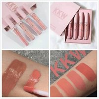 KKW X KYLIE collaboration Set Of 4 Creme Liquid Lipsticks Pink Kimberly kim kiki kimmie collection Livraison gratuite DHL
