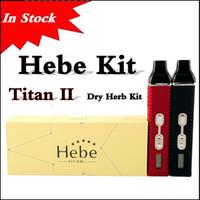 En existencia Titan 2 kit HEBE Nube de pluma de vapor Dry herbal Vaporizer pluma 2200mAh Batería LCD Display Titan II Vaporizador kit vía DHL