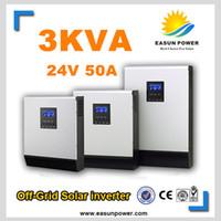 Солнечные инверторы 3Kva 2400W Off инвертор сетки 24V до 220V 50A Гибридные инверторы PWM Чисто инвертор синусоидальной волны 30A Зарядное устройство