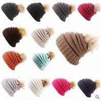 15 cores Unisex Beanie malha crânio Caps CC Chapéus Boné Beanies Fur Pom Poms Beanies Outono Inverno Cap Casual Unisex Headgear CCA5513 50pcs