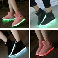 New Arrival Women Fashion Shoes Snow Boots USB Charging Colo...
