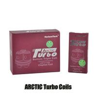 Authentique Horizon Arctic Turbo Coil tête Japonaise organique coton inférieur Triple Clapton bobines pour turbo atomiseurs