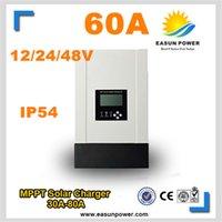 60A MPPT солнечный контроллер 12v 24v 48v солнечный регулятор заряда солнечный регулятор 3400w солнечная энергия