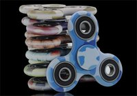Camo Colorful Fidget Spinner Toy Hand Triangulaire Spinner Toy pour décompression Anxiety Toys With Abound Box