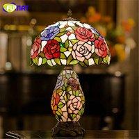 European Graden Tiffany Table Lamp Living Room Bedside Warm ...