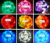 DIY Puzzle Light Infinity Lights IQ Light Pieces Красочные бесконечности Puzzle огни Абажур № 30