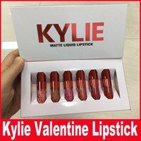 день Kylie Валентина коллекция Дженнер Lipkit Валентина издание KYLIE 6pcs в комплект матовый блеск для губ Lipstick