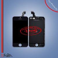 Grade A +++ Écran à cristaux liquides Écran tactile Numériseur Montage complet pour iPhone 5C Remplacement complet de l'écran Livraison gratuite