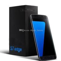 S7 EDGE экран изогнут MTK6580 четырехъядерный 1GB / 4GB металла Версия Android Мобильный телефон Показать поддельные 4G LTE смартфон Сотовые телефоны DHL свободный
