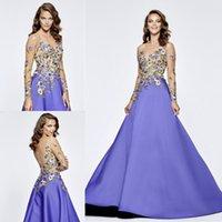 Bright Tarik Ediz Evening Dresses Lace Applique Party Gowns ...