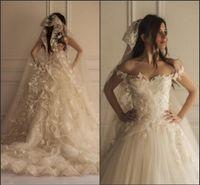 Off the Shoulder Fairy Romantic Wedding Dresses 2017 New Fre...