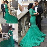 Long Sleeves Evening Dresses Cheap Prom Dresses 2017 Plus Si...