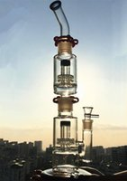 Bijoux droits en verre double perc amovible cage perc