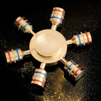 Nouveau EDC Tri-Spinner Fidget Toys Pattern Spinner à main Metal Fidget Spinner et ADHD Adultes Enfants Jouets éducatifs Anti-stress