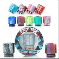 Demon Killer magia de resina de goteo tipTFV8 TFV12 Drip Tips 510 E-Cigs Colorido Wide Bore Magic Boquilla para 510 528 Cleito TFV8 TFV12 Atomizer