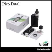 Authentique Eleaf Pico Double TC Kit Complet avec 200W Pico Double Boîte Mod 2ml Melo 3 Mini Atomiseur 100% Original