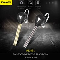 Original Awei A830BL Bluetooth 4.0 sans fil Écouteur Smart Business kit oreillette kit mains libres Appels In-ear pour iphone7 Samsung S7 S6