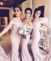 ДЕШЕВЫЕ 2017 года Sexy Страна Длинные Русалка невесты платья Off -Shoulder рукава Cap Кружева аппликация Свадьбы Bridesmaids мантий выпускного вечера до 60 лет