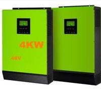 Круто ! Инвертор 4000W для солнечной инверторной сетки Инвертор 48V до 220V 80A Инверторы MPP Чистый синусоидальный гибридный инвертор 60A AC Зарядное устройство