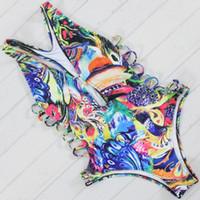 2017 Sexy One Piece Swimsuit Mulheres Swimwear Bodysuit Fato de banho Vintage Praia desgaste Monokini Swimsuit XL Swimwear
