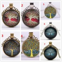 Alloy Vintage Living Tree of Life Glass Cabochon With Natura...