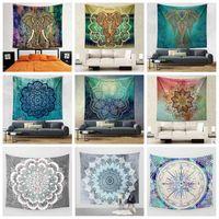 21 Designs 130 * 150cm Bohemian Mandala Tapisserie de plage Hippie Throw Yoga Mat Towel Indian Polyester Beach Shawl Serviette de bain LJJC5333 20pcs