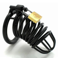 Black Alloy Male Chastity devices Cages, Cock Cage, Penis Lock...