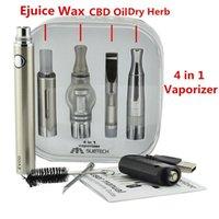 4 en 1 kits de démarrage avec E Cigs MT3 cire sec vaporisateur d'herbes Tank Quartz bobine Evod Batterie 1100mah Multi Vape Pen Dhl