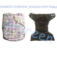 Hot sale Bamboo Charcoal Baby Reusable Cloth Pocket Diaper C...