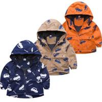 Boys jackets Spring Autumn Hooded Car Baby Boys Outerwear Co...