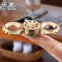 HX OUTDOORS EDC fingertips gyro Hand spinner brass hands thu...
