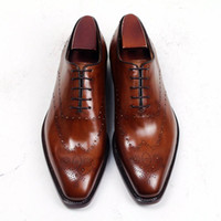Men Dress shoes Oxford shoes Square toe Men' s shoes Cus...