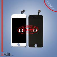 Pour écran LCD blanc et noir Touch Digitizer Ecran complet avec cadre Remplacement complet pour iPhone 6 plus