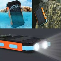 Wholesale- Waterproof 10000mAh Solar Power Bank Portable Ext...